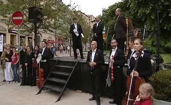 Demonstrace karlovarských hudebníků