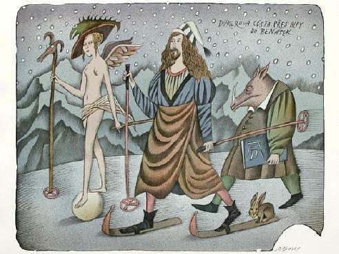 Adolf Born / Dürerova cesta přes Alpy do Benátek
