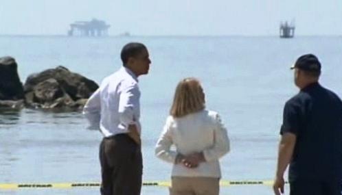 Barack Obama na pobřeží Mexického zálivu
