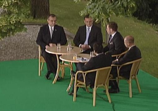 Političtí lídři v Kramářově vile