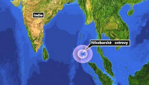 Nikobarské ostrovy zasáhlo zemětřesení