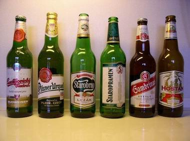 Lahve některých pivních značek