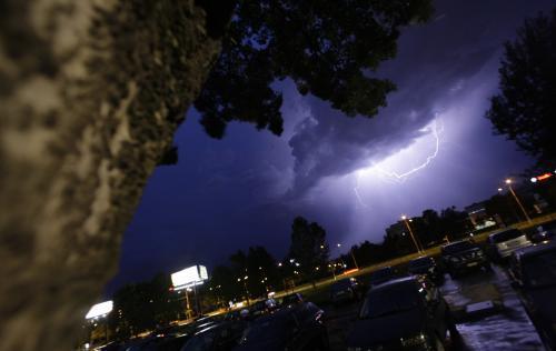 Nad Slovenském se v den voleb přehnala bouřka