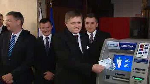 Robert Fico při zavádění eura