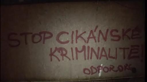 Rasistická hesla od neznámých vandalů v Brně