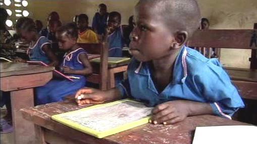Výuka dětí v Sierra Leone