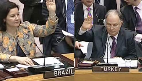 Brazlie a Turecko hlasovaly proti sankcím
