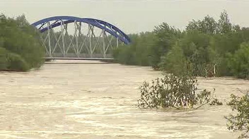 Povodeň u obce Troubky