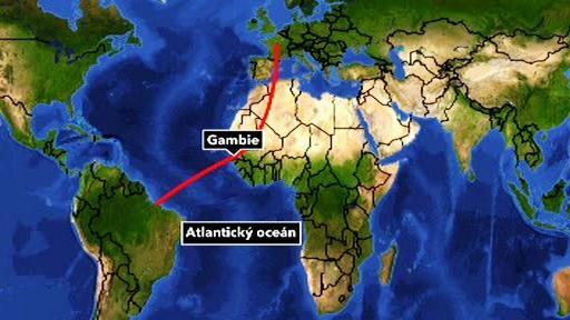 Tranzit drog přes Gambii