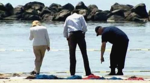 Obama na pobřeží Louisiany