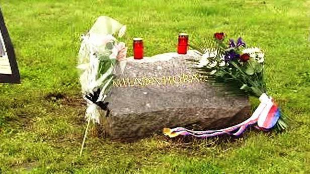 Základní kámen pomníku Milady Horákové