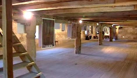 Opravený interiér zámku v Čečovicích