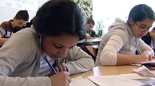 Romská žákyně