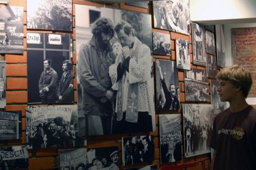 Expozice muzea kněze Jerzyho Popieluszka