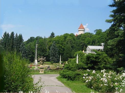 Růžová zahrada na zámku Konopiště