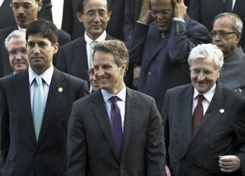 Geithner a Trichet