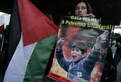 Protesty na podporu Palestiny zažilo i Sao Paulo