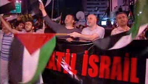 Demonstrace proti Izraeli