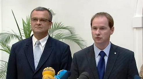 Miroslav Kalousek a Petr Gazdík