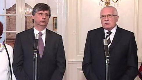 Jan Fischer a Václav Klaus