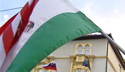 Maďarská a slovenská vlajka