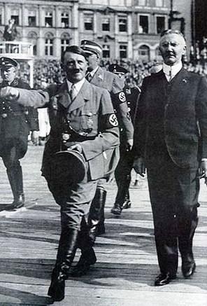 Adolf Hitler a Hjalmar Schacht