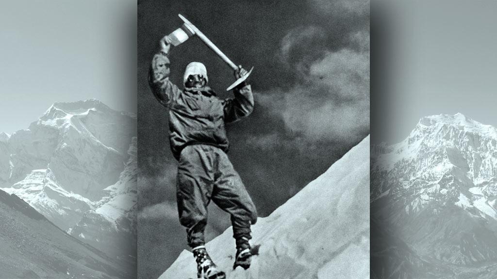 Maurice Herzog na vrcholu Annapurny