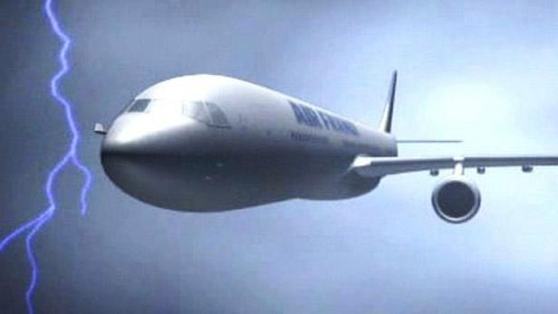 Airbus v bouři