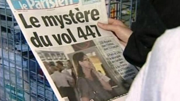 Tisk o katastrofě letadla Air France