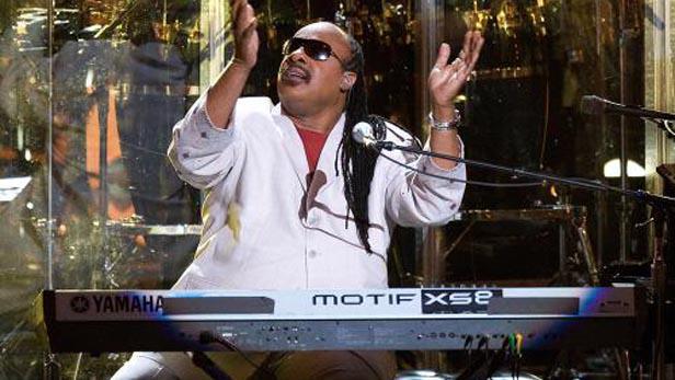 Stevie Wonder na koncertě pro Nelsona Mandelu (2009)