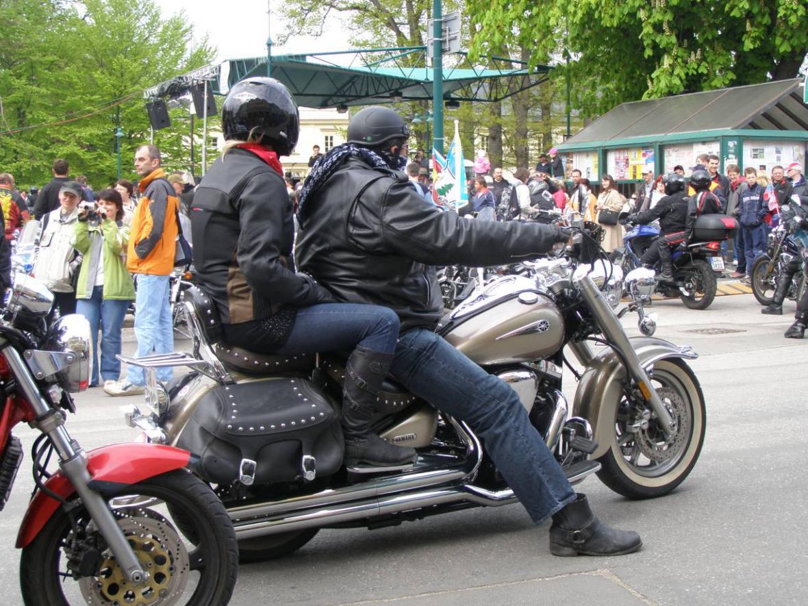 Vrchlabí - sraz motorkářů