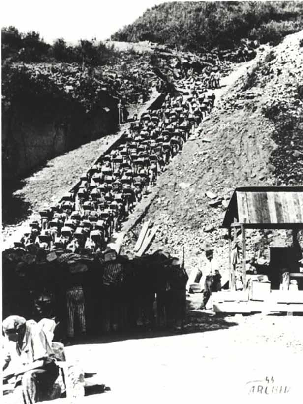 Schody smrti v táboře Mauthausen