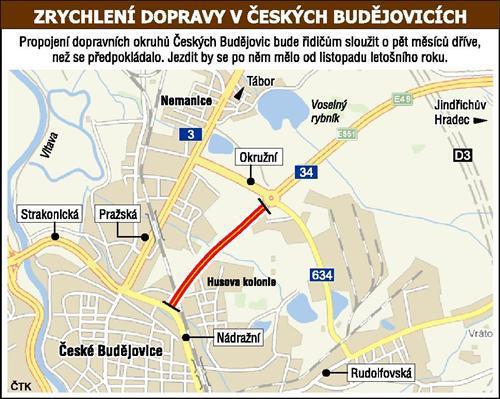 Propojení okruhů v Českých Budějovicích