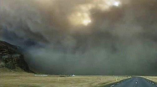 Sopečný prach na Islandu