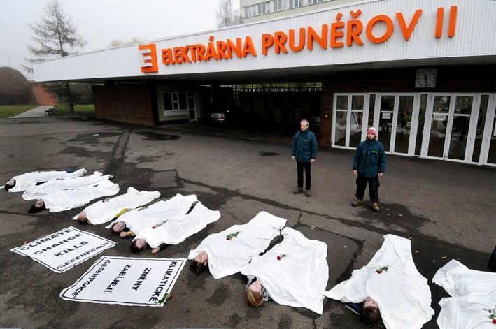 Protest aktivistů z hnutí Greenpeace