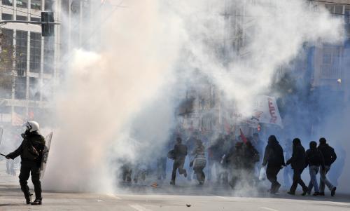 Nepokoje během řecké stávky