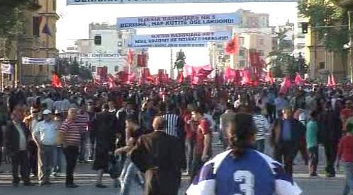 Protest v Albánii