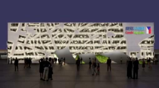 EXPO 2010 - model českého pavilónu
