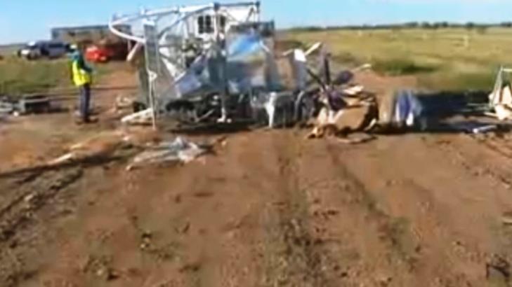 Havárie balonu v australském Alice Springs