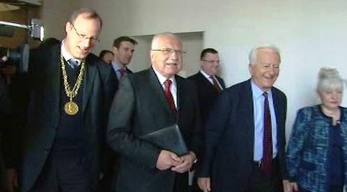 Václav Klaus na Humboldtově univerzitě