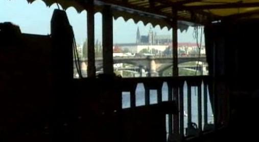 Loď Tajemství / výhled z lodi