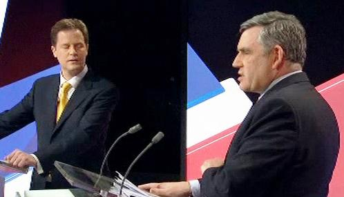 Nick Clegg a Gordon Brown