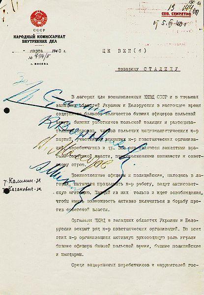 Rozhodnutí o masakru 22 tisíc Poláků