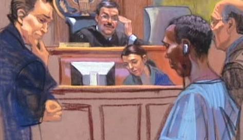 Somálský pirát před soudem