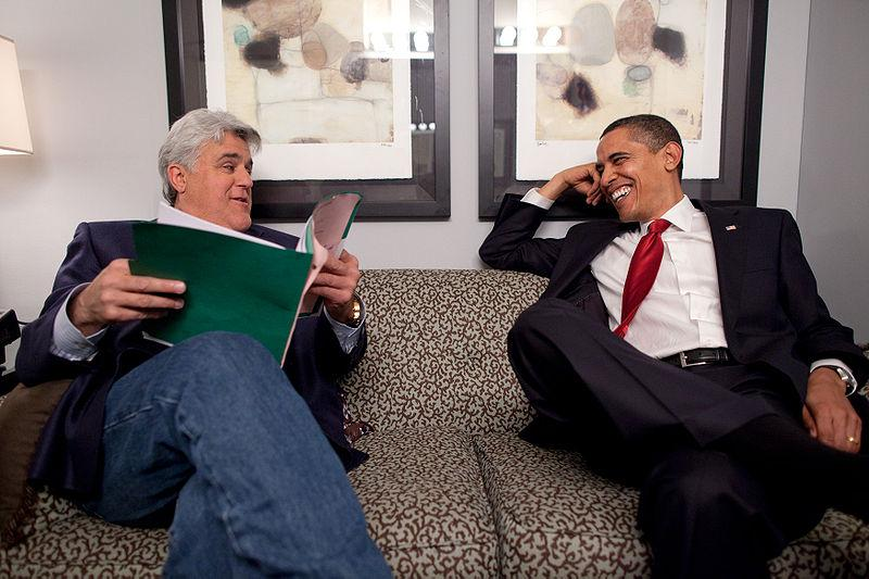Jay Leno a Barack Obama