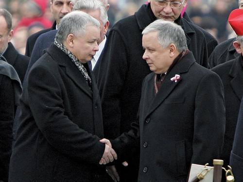 Jaroslaw a Lech Kaczyńští