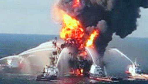 Požár ropné plošiny