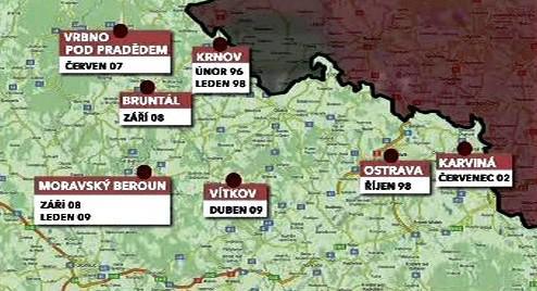 Útoky v Moravskoslezském kraji