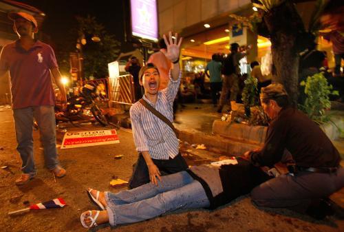 Výbuchy během demonstrací v Thajsku