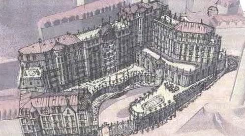 Plánovaný hotel v centru Karlových Varů